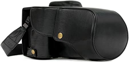MegaGear Ever Ready Leather Camera Case Compatible with Canon EOS Rebel T6i, Rebel T6s, 8000D