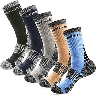 NEEKFOX Men's Cushion Crew Hiking Socks Multi Performance Outdoor Sport Moisture Wicking Socks