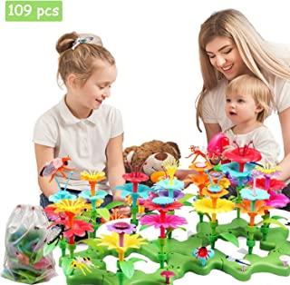 barchrons Flower Garden Building Toys Set, Flower Building Toy Educational Creative Playset for Age 3,4,5,6,7 Year Old Gifts