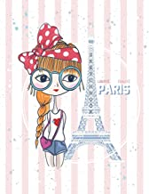 Sketch book: Love Paris cover (8.5 x 11)  inches 110 pages, Blank Unlined Paper for Sketching, Drawing , Whiting , Journaling & Doodling (Love Paris ... (8.5 x 11) inches, 110 pages) (Volume 38)