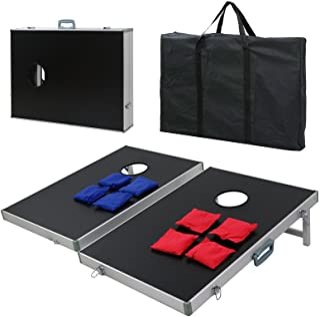 BBBuy Foldable Cornhole Toss Bean Bag Game Set MDF Board with Aluminum Frame (3FT x 2FT)