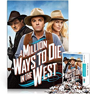 A Million Ways to Die in the West 1000 pieces of difficult puzzles DIY toy puzzle 1000 piece anime puzzle Challenge your i...