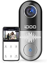Video Doorbell WiFi – iDOO 1080p HD Video Camera doorbell, 2-Way Audio Home Security Front Door Bell, Motion Detector, Sec...
