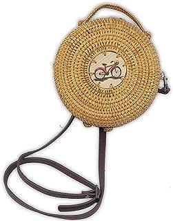 Ann Lee Design Round Rattan Shoulder Bag