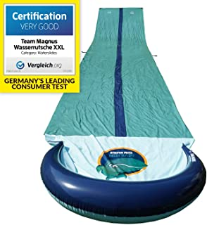 TEAM MAGNUS Slip and Slide XL - Inflatable Crash pad and Central Spray Channel for Races