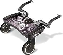 Lascal BuggyBoard Maxi, Kinderbuggy Trittbrett mit großer Stehfläche, Kinderwagen Zubehör für Kinder von 2-6 Jahren 22 kg, kompatibel mit fast jedem Buggy und Kinderwagen, schwarz