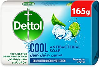 Dettol Instant Cool Antibacterial Bathing Soap Bar With Menthol And Eucalyptus, 165 gm