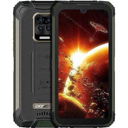 "DOOGEE S59 Pro Móvil, [2021] 10050mAh 4GB RAM+128GB ROM, IP68 IP69K Movil Resistente, Potente Altavoz 2 W, Cámara Cuádruple 16MP+Cámara Frontal 16MP Smartphone Android 10 4G, 5.71"", NFC/GPS, Verde"