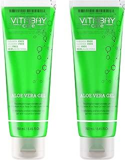 Vitabay - Gel 99.9% de aloe vera y extracto de pepino, hidratante y calmante