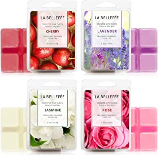 LA BELLEFÉE 4 x Packs Perfume Box Wax Melts Set of 4 Fragranced Wax, Organic, Vegan, Soy Wax melt, Natural Wax