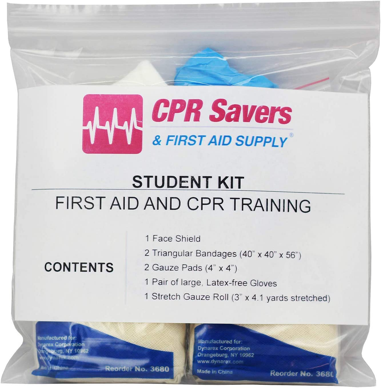 CPR Savers 7-Piece First Aid Kit New product! New type 20 and Year-end annual account Training