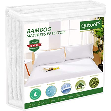 GOPOONY 100/% Waterproof Mattress Protector Twin Size Cooling Mattress Pad Cover Soft /& Breathable Noiseless 18 Inch Extra Deep Pocket Protection Fitted 8-21 Vinyl Free White,Twin