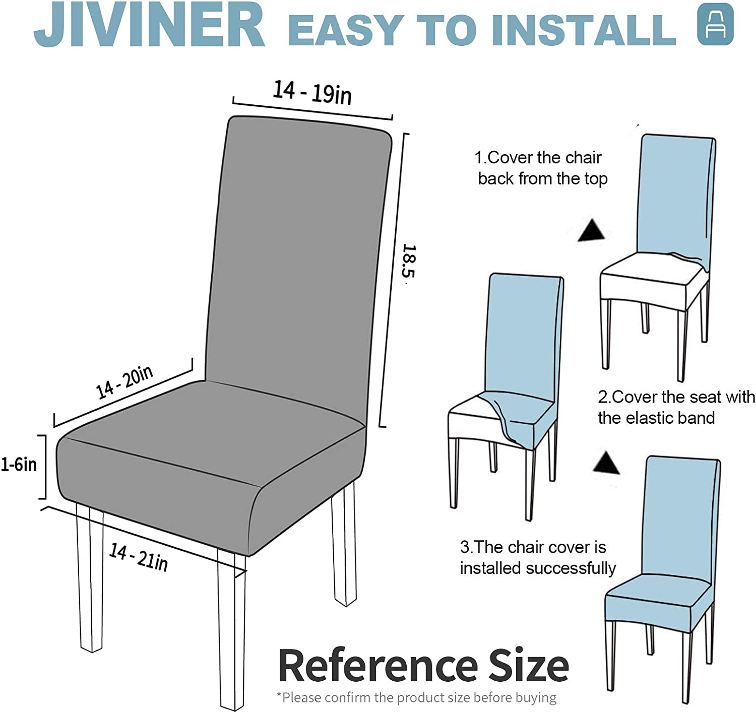 Hotel 2, Blackish Green JIVINER Thick Stretchy Dining Chair Slipcover Set Washable Jacquard Parsons Chair Covers Removable Kitchen Chair Furniture Protector for Dining Room Party