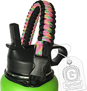 Gearproz Handle for Hydro Flask Water Bottle - America's #1 Paracord Carrier with Safety Ring Holder - Fits Wide Mouth Bottles 12 oz to 64 oz - Top Ratings