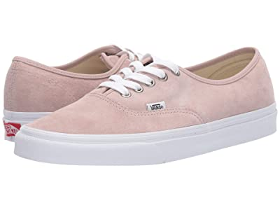 Vans Authentictm ((Pig Suede) Shadow Gray/True White) Skate Shoes