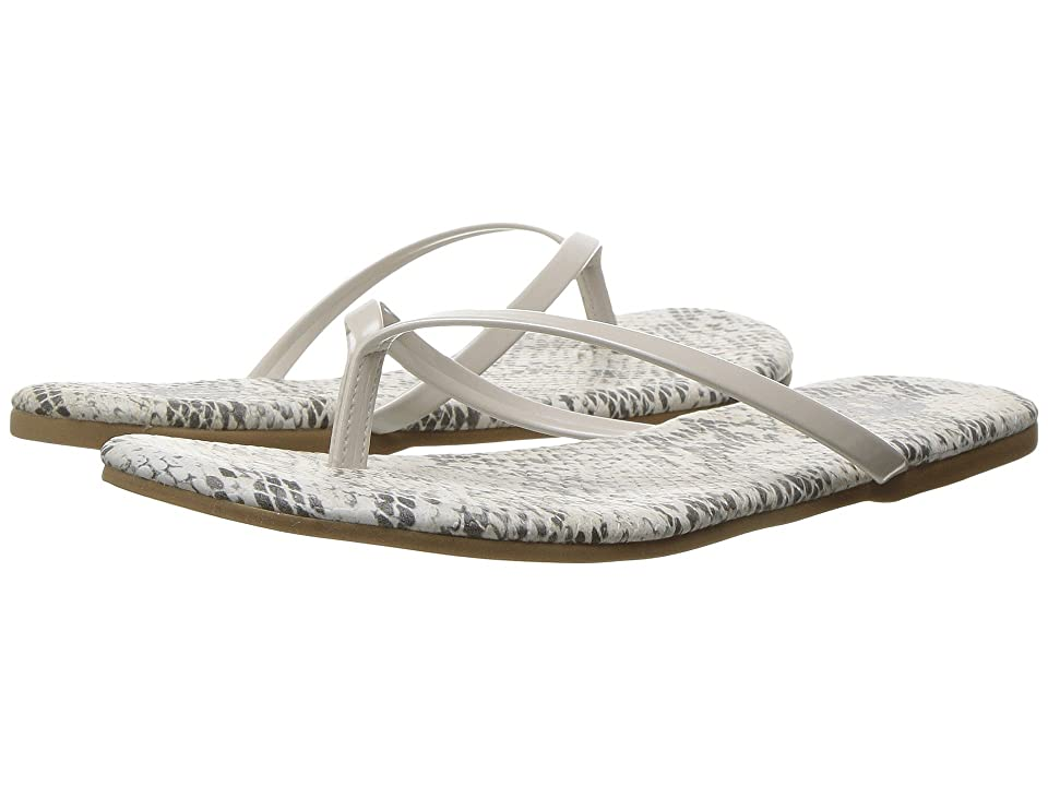 Amiana 12-A885 (Toddler/Little Kid/Big Kid/Adult) (White Python Patent) Girl