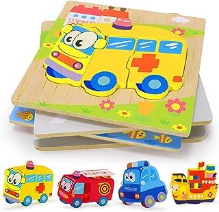 comprar comparacion XDDIAS Puzzles de Madera Educativos, Juguetes Montessori para Bebé niños 1 2 3 4 5 6 años, Preescolar Juguetes Regalos, Re...