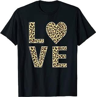 Leopard Skin Love, Vintage Tee Shirt For Women Men T-Shirt