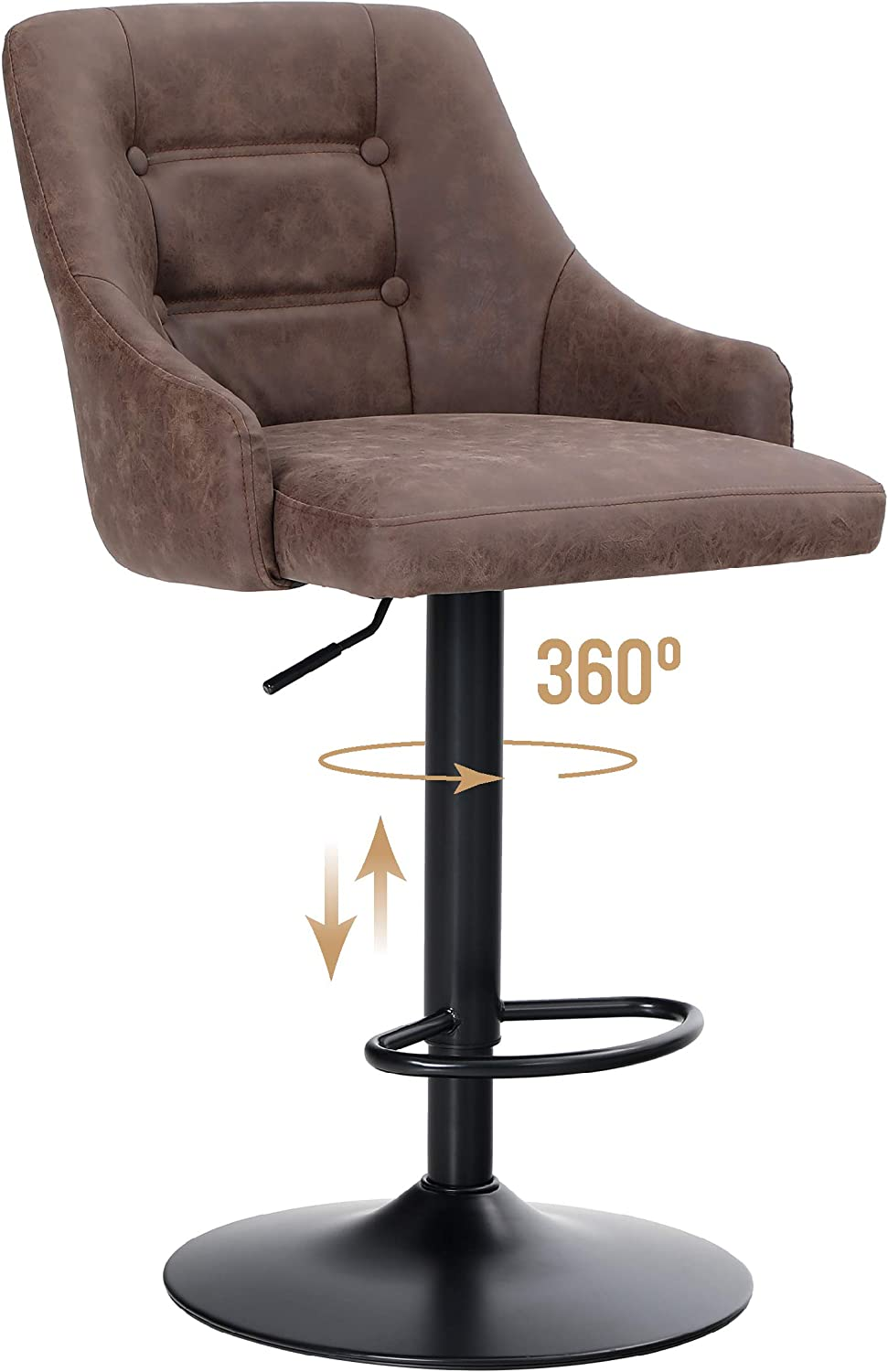 ALPHA HOME Swivel Bar Stool Ba Airlift Counter Bargain sale Adjustable Our shop OFFers the best service Height