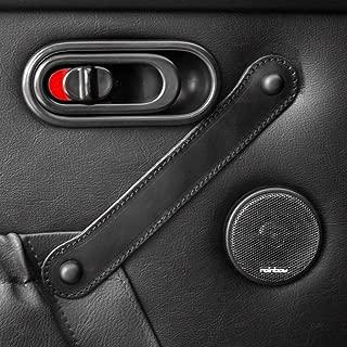 DOOR PULLS REAL LEATHER PLAIN STITCHED DESIGN BLACKFITS MX5 NA (1989-1997) JASS PERFORMANCE