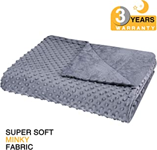 """bedextra Removable Duvet Cover for Weighted Blanket - Super Soft Minky Fabric 