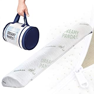 [Large - White Bamboo] DreamyPanda Toddler Bed Rail Bumper/Foam Guard for Bed - Side Rail with Bamboo Cover - Pillow Pad f...