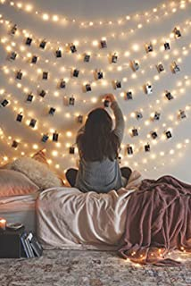2 Pack, Waterproof Starry Fairy Copper String Lights USB Powered fwith SWITCH or Bedroom Indoor Outdoor Warm White Ambiance Lighting for Patio Wedding Decor 66 feet 200 LEDs Power Adapter Included
