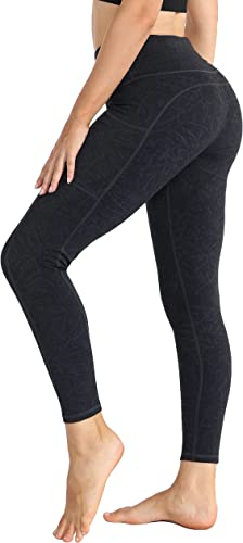 zeetoo High Waist Leggings for Women with 3 Pockets 4-Way Stretch Tummy Control Leggings for Yoga Workout Running Cycling Gym