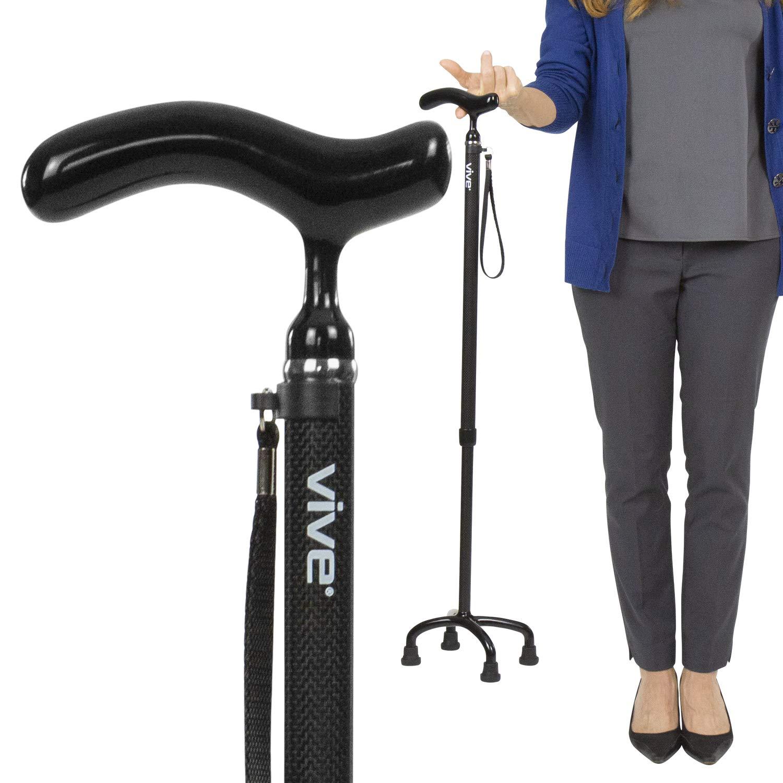 Vive Quad Cane Lightweight Adjustable