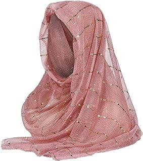 Women's 1920s Scarf Wraps Sequin Deco Fringed Wedding Cape Evening Muslim Shawl Vintage Prom