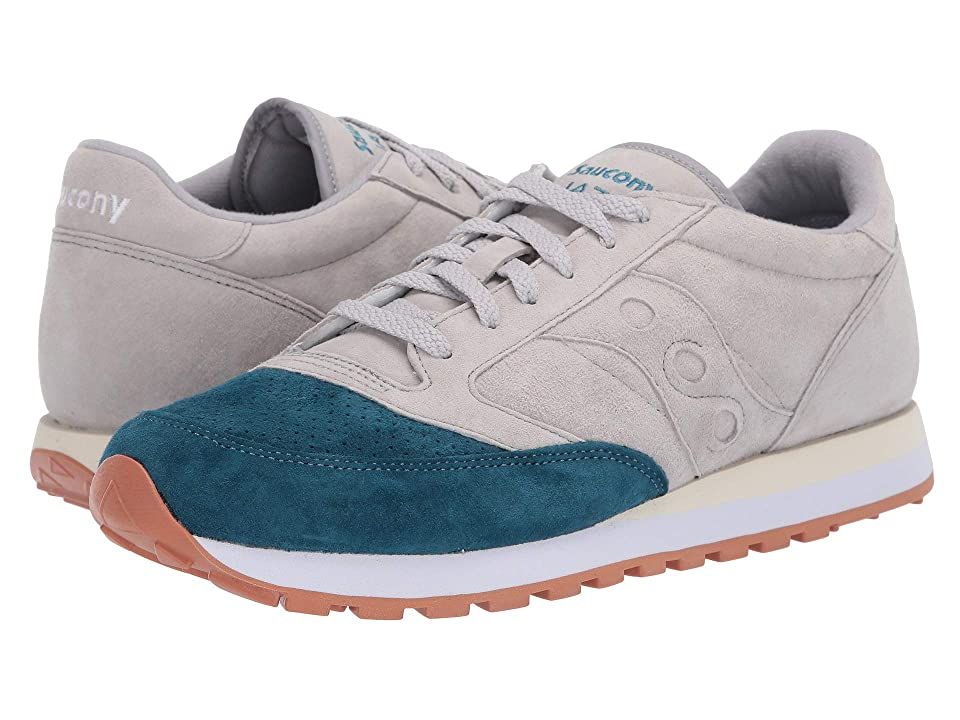 Saucony Originals Jazz Original Suede (Grey/Teal) Men