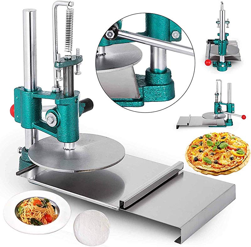 Happybuy Household Pizza Dough Pastry 7 87inches Pizza Pastry Press Machine 304 Stainless Steel Manual Press Machine Easy To Operate