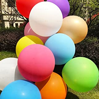 (Mixed Color) - Giant balloons 90cm Big Balloons - 7 Pack Assorted colour