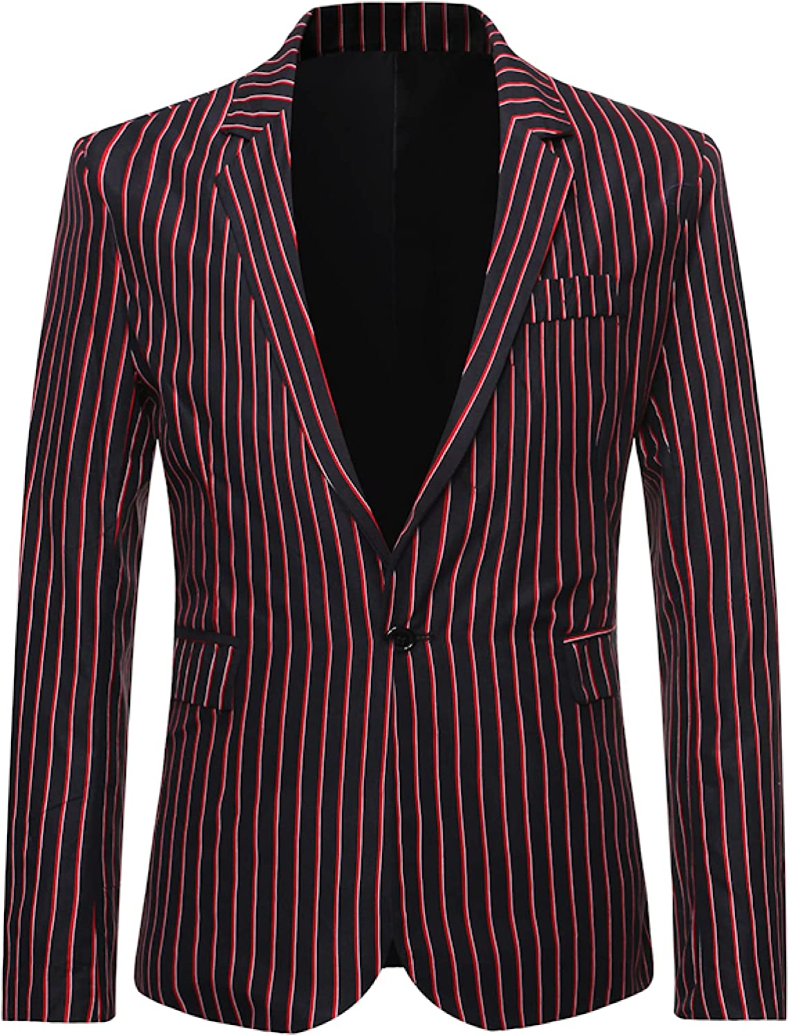 Men's Check Blazer Solid Color Single Breasted Business Wedding Dressfor Wedding Party Celebration