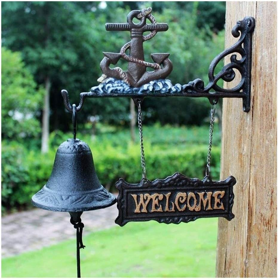 Large special price HYFDGV Dinner Bell Cast Welcome Door Iron Beauty products Entry