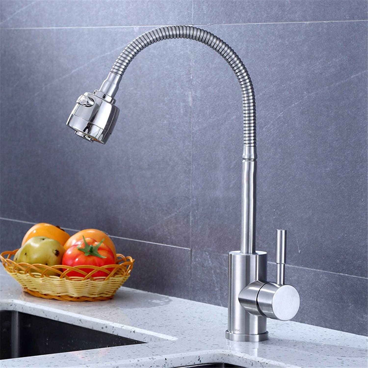 T-TSLT New Kitchen Sink Faucet with redating Curved Sink Faucet