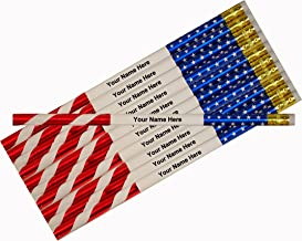 ezpencils - Personalized Patriotic Flag Pencils - 12 pkg - ** FREE PERZONALIZATION **