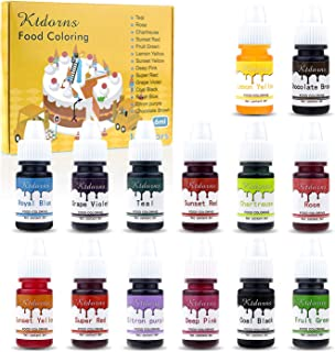 Food Coloring-14 Color Variety Kit-cake food coloring liquid Variety Kit for Food color Baking, Decorating,Fondant and Coo...