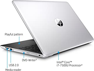 Newest HP 15.6-inch HD Touchscreen Display Laptop PC, Intel Dual Core i3-7100U 2.4GHz Processor, 8GB DDR4 SDRAM, 1TB HDD, Bluetooth, HDMI, 802.11ac WiFi, DVD +/- RW, Windows 10-Natural Silver