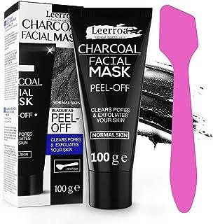 Leerroa ORIGINAL Black Mask 100ml XXL  Maskenpinsel - Schwarze Abziehmaske mit Aktivkohle gegen Mitesser - Für eine porentiefe Reinigung - Für Frauen und Männer