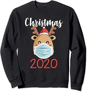 Pijama a juego con máscara de reno de Navidad 2020 Sudadera