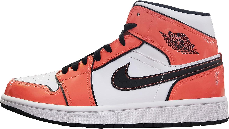 Nike Air Jordan 1 Mid Turf Orange/Black White DD6834-802 Men's