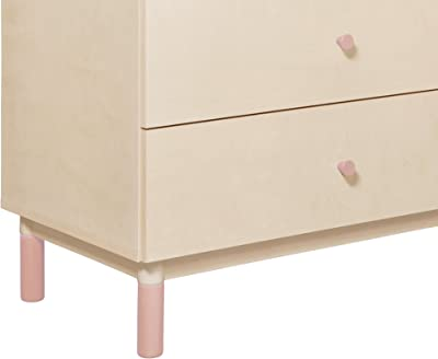 Babyletto Gelato Crib and Dresser Feet Pack in Petal Pink
