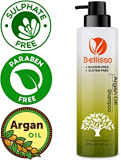 Moroccan Argan Oil Shampoo Sulfate Free for Normal Oily Curly Dry Damaged Color and Keratin Treated Hair for Men and Women