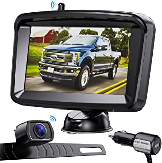 $109 » Xroose Wireless Backup Camera System - Waterproof Rear View Camera with 5 Inch HD Monitor for Cars Pickup Trucks SUVs RVs,...