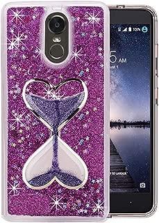 1Pcs Sparkle Sandglass Wine Cup Liquid Floating Diamond Bracelet Fur Ball Phone Case for LG Stylo 4 Q Stylus Stylus 4 Plus Cover,26,for LG Stylo 4
