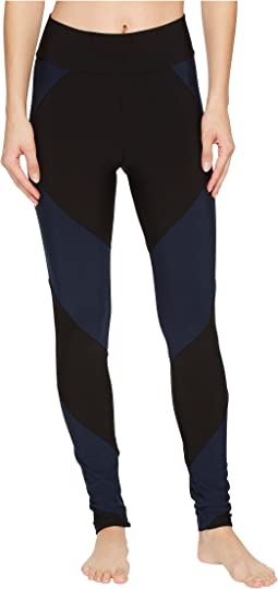 Fleece-Lined Color Block Athletic Leggings