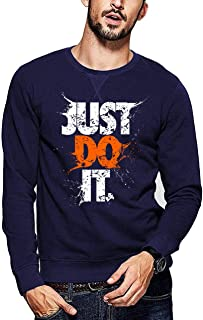 ADRO Men's Cotton Just Do It Typography Printed Pullovers