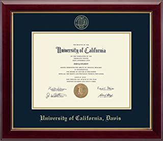 edf4d98521f7 Church Hill Classics UC Davis Gold Embossed Diploma Frame - Features Solid  Hardwood Gallery Moulding -