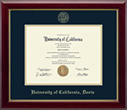 Church Hill Classics UC Davis Gold Embossed Diploma Frame - Features Solid Hardwood Gallery Moulding - Officially Licensed - 8.5